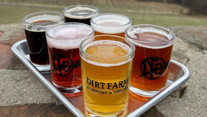 Dirt Farm Brewing flight beer loudoun LoCoAle Trail
