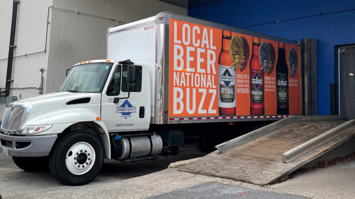 Port City Brewing Company Beer Truck